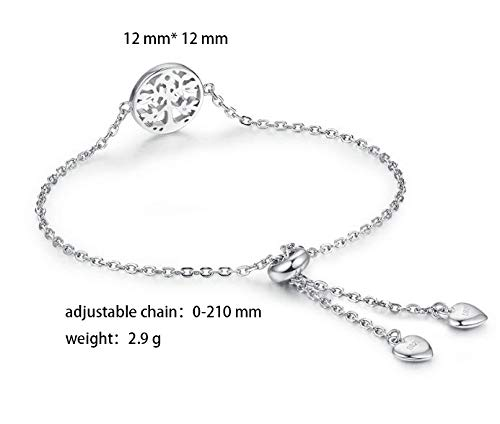 87c2331482ac ... WISHMISS 925 Sterling Silver Tree of Life Charm Bracelet for Girl ...