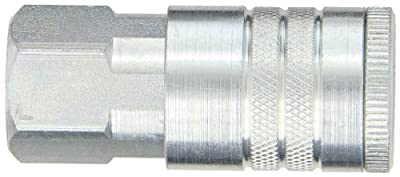 """Dixon Valve DC1023 Steel Air Chief Automotive Interchange Quick-Connect Air Hose Socket, 1/2"""" Coupler x 3/8"""" NPT Female Thread, 150 CFM Flow Rating"""