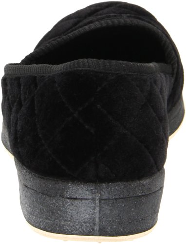 Slipper In Schiuma Di Zaffiro, Velour Nero, 8,5 M Us