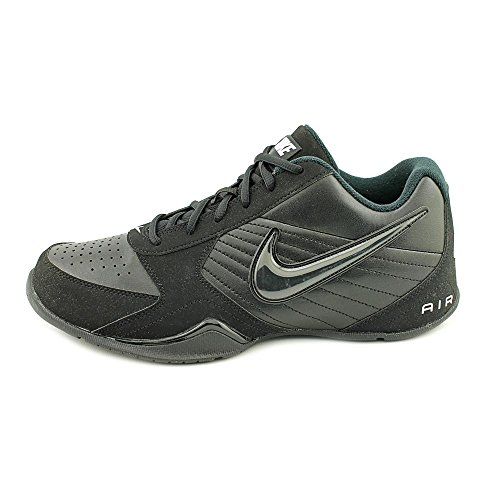 Air Men Leather Black Low Baseline Basketball Toe Round NIKE Shoe white Black qdfFwn