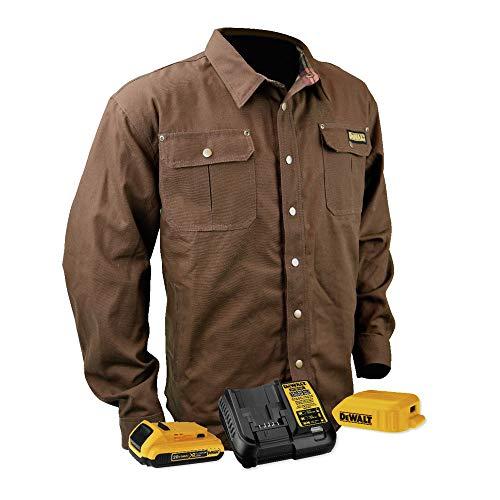 DEWALT DCHJ081TD1-XL Heated Heavy Duty Shirt Jacket, XL, Tobacco by DEWALT (Image #5)