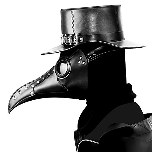 HIBIRETRO Steampunk Gothic Retro Plague Beak Doctor Bird Mask Halloween Christmas Costume Props 2018