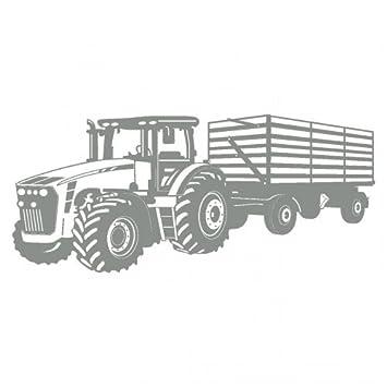 Wandtattoo Traktor Mit Anhänger Trecker Kinderzimmer Kinder Wandaufkleber  In 8 Größen Und 20 Farben (120x50cm