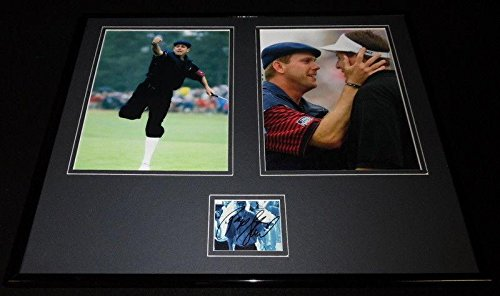 Payne Stewart Signed Framed 16x20 Photo Display w/Phil Mickelson - Autographed Golf Photos