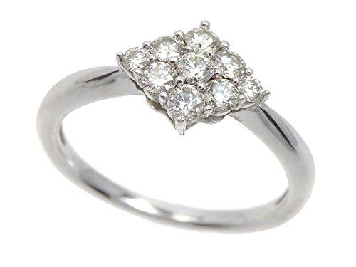 ダイヤモンド リング レディース K18WG 14号 2.8g 18金 ホワイトゴールド 750 指輪 B07B6P174F