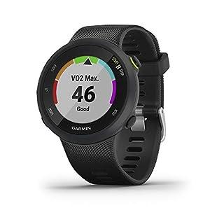 Garmin Forerunner 45 GPS Running Watch with Garmin Coach Training Plan Support – Black, Large