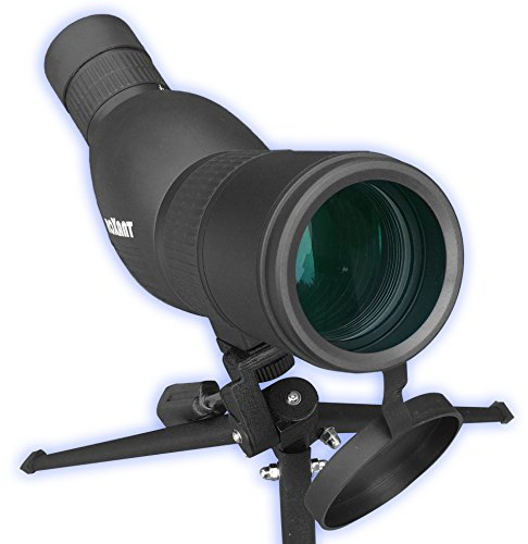 Roxant Authentic Blackbird High Definition Spotting Scope with Zoom - Rubber Armor, Fully Multi-Coated Optical Glass Lens + BAK4 Prism. Includes Tripod & Case + Lifetime Support