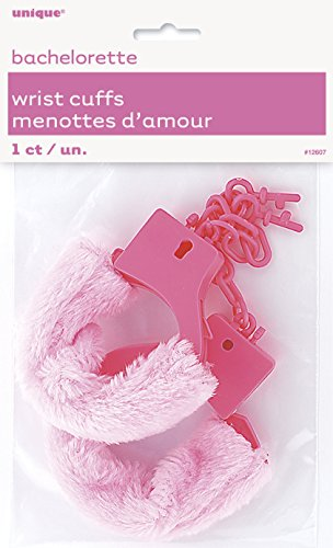 Bachelorette Party Pink Furry Handcuffs