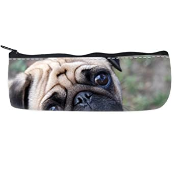 ¡ Los de perro carlino se ajustará a la cámara cry de perro diseño de piel de leopardo estuche para lápices con cierre Bolsa para palos de golf: Amazon.es: ...