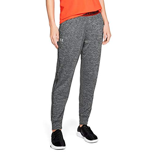 Under Armour Women's Play Up Twist Pants, Black /Metallic Si