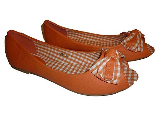 3 Sintético w Naranja Mujer hohenlimburg Ballet De 7qATwW10q