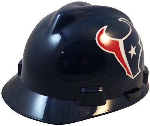 MSA NFL Ratchet Suspension Hardhats - Houston Texans Hard Hats