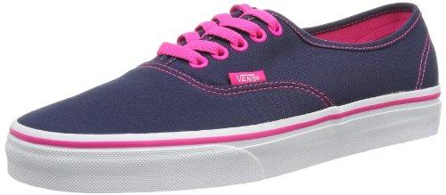 Vans U Authentic - Baskets Mode Mixte Adulte Bleu (Dress Blues/Pink Glo)