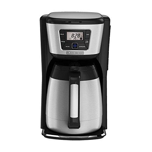 BLACK+DECKER CM2035B 12-Cup Thermal Coffeemaker, Black/Silver (Certified Refurbished)