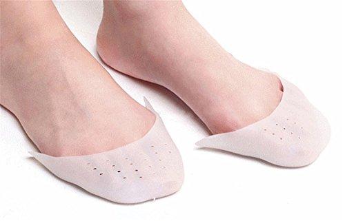 Wendy Wu Mädchen-Frauen tanzen Schuh-Rosa-Ballett Pointe Schuhe mit Zehen-Auflagen Weiß
