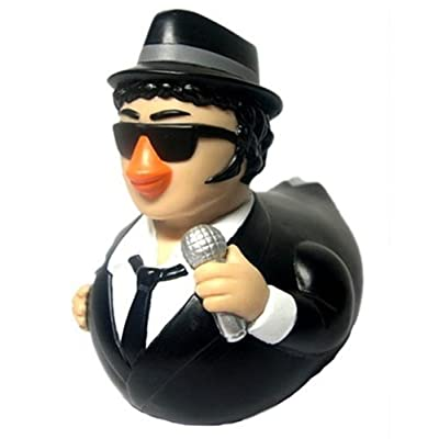 CelebriDucks Blues Brother Jake Rubber Duck Bath Toy: Toys & Games
