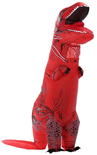 Perfect Jurassic park dinosaur giant t-rex dinosaur inflatable costumes for Adults Red AS