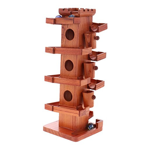 Jili Online Wooden Toys Marble Run Set with Marbles Ball Slide Track Game Office Desk Decor Relaxing