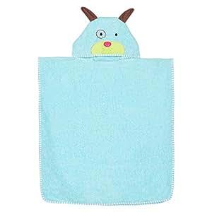 Kami Cotton Solid Pattern,Blue - Bath Towels