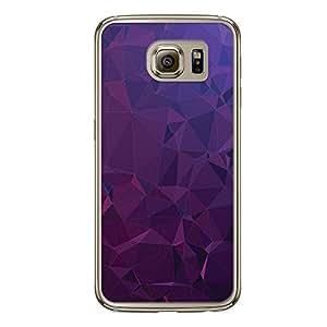 Loud Universe Samsung Galaxy S6 Geometrical Printing Files A Geo 22.1 Printed Transparent Edge Case - Purple
