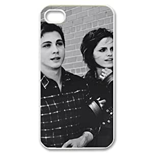 HUS06654 DIY Hard Back Cover Case with Logan Lerman for Iphone 4/4S at Hushell