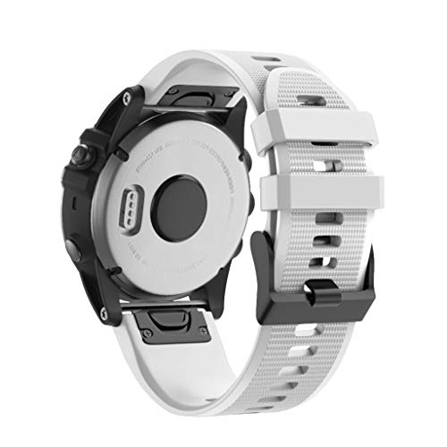 (Hot Sale! NDGDA, Quick Release Replacement Silicone Easy Fit Wirstband for Garmin Fenix 5X Plus (White))