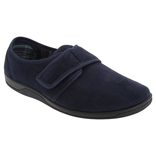 Tom Fastening Navy Imitation blue Sleepers Mens Suede Touch Slippers 5wFnPXBx