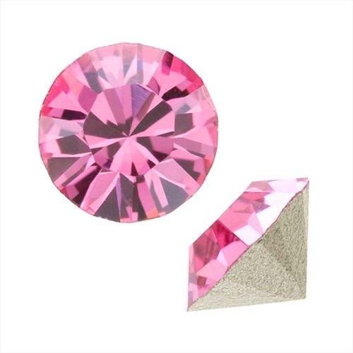 Swarovski Crystal, #1088 Xirius Round Stone Chatons ss29, 12 Pieces, Rose (Swarovski Chaton Rose)