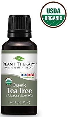 Plant Therapy Tea Tree (Melaleuca) Organic Essential Oil 100% Pure, Undiluted, Therapeutic Grade