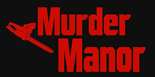 (BuildASign Murder Manor Halloween Large Indoor/Outdoor Vinyl Banner - 2ft x)