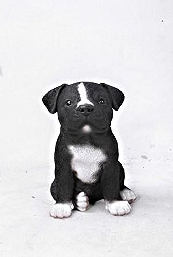 Hi-Line Gift Ltd. Sitting Staffordshire Pitbull Puppy Statue For Sale