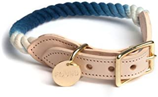 product image for Found My Animal Indigo Ombre Cotton Rope CAT & Dog Collar