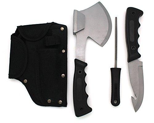 Snake-Eye-Tactical-Heavy-Duty-4PC-Big-Game-Hunting-Knife-Set-Camping-Fishing-Silver