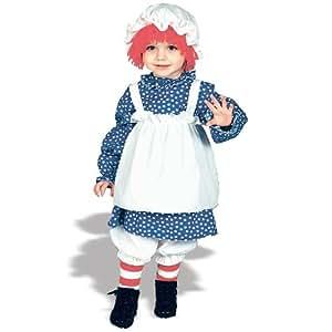 Raggedy Ann Costume: Girls Toddler Size (2T-4T)