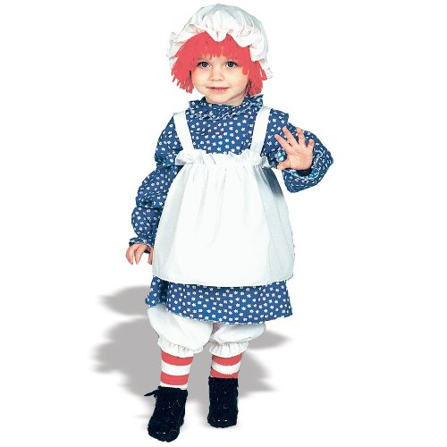Raggedy Ann Costume: Girls Toddler Size (2T-4T) (Toddler Raggedy Ann Costume)