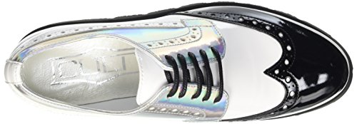 Cult Mujer Silver White Alice Derby 849 Zapatos Multicolor aAWpw1r6aq
