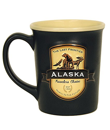 Americaware Alaska Emblem 18oz Ceramic Coffee Tea Mug Cup 5 Inches Long By 4.75 Inches Tall By 4 Inches Wide