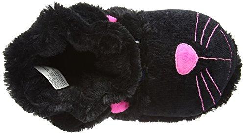 Zapatos de aroma Home Diversión Para Pies de gato negro, unisex adulto Zapatillas de parte trasera abierta Negro - negro