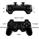PS2 Wireless Controller 2.4G, Double Shock Dual
