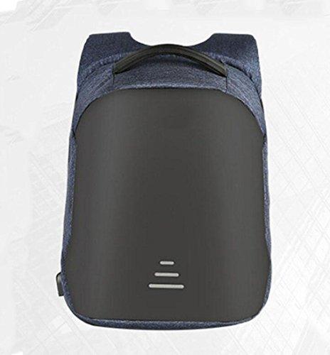 WYXIN Laptop Computer Rucksack Business Water Resistant Polyester Rucksack mit USB-Ladeanschluss und passt 16-Zoll-Laptop und Notebook blue