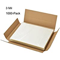 BESTEASY 3 Mil Clear Letter Size Thermal Laminating Pouches, 8.9 x 11.4, Pack of 1000