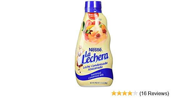 La Lechera Sweetened Condensed Milk 15.8 Oz. (Pack of 3)