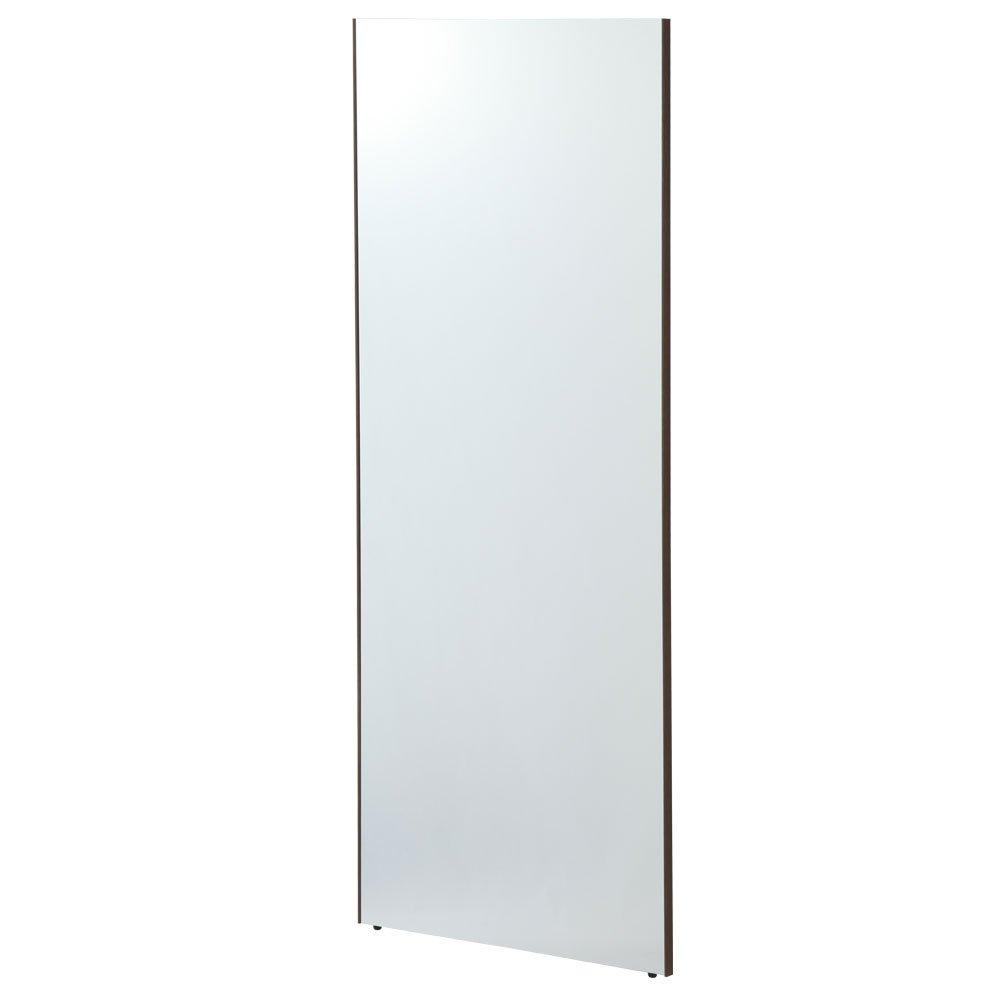 【60cm幅】 鏡 スタンドミラー 全身 ウォールミラー 壁掛け ミラー 姿見 割れない 日本製 〔細枠〕オーク B01CQE3BL2 オーク オーク