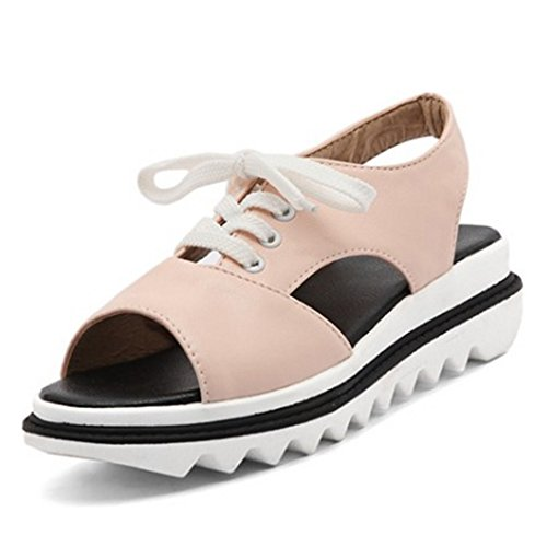 Coolcept Mujer Cordones Sandalias Pink