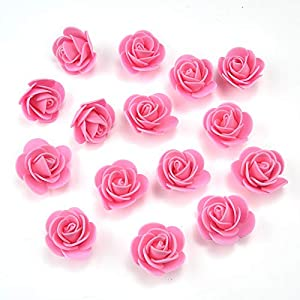 Mini PE Foam Rose Flower Head Artificial Rose Flowers Handmade DIY Wedding Home Decoration Festive & Party Supplies 4