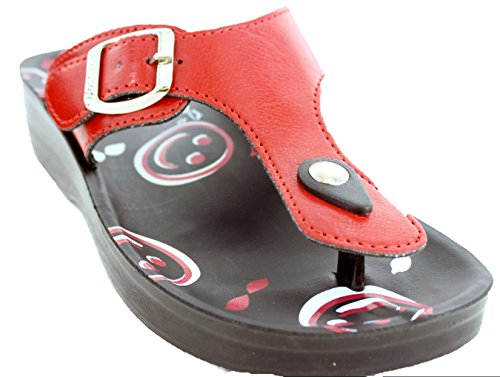 Aerosoft Womens Zaloo Sandal Red