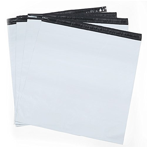 Metronic Large Shipping Bags 100 Pack White Poly Mailers 19x24 Envelopes with Self Adhesive,Waterproof and Tear-Proof Postal Bags