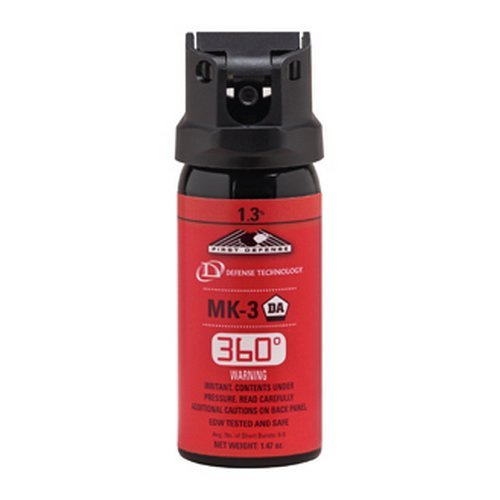 "Defense Technology 56833 MK-3 1.47 oz First Defense 360"" 1.3% Strength OC Spray"
