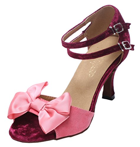 Pink Flared Shoes Womens Tango 3 6140 Q Dance Latin Party Abby Ballroom Heel XaAvn71wx
