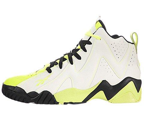 Reebok Men's Kamikaze II Mid Fashion Sneaker,Neon Yellow/Black,10.5 M ()